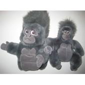 Lot De 2 Peluches Doudou Et Marionnette Gorille Tok Tarzan Disney 25 Cm Et 29 Cm