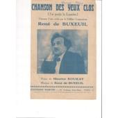 Rene De Buxeuil / Chansons Des Yeux Clos / Poesie Maurice Boukay