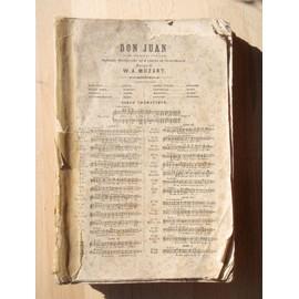 """Partition """"DON JUAN"""" Paroles et piano"""