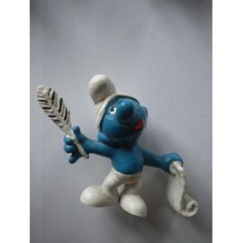 Schtroumpf Po�te 1972 Portugal Plume Noire Figurine Collection Schtroumpfs Smurf Schtroumpfette