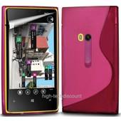 Housse Etui Coque Pochette Silicone Gel Rose Pour Nokia Lumia 920 + Film �cran