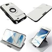 Housse Etui Coque Pochette 360� Blanc Pour Samsung N7100 Galaxy Note 2 + Film