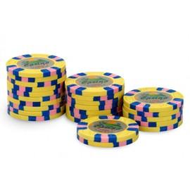 Rouleau 25 Jetons Casino Joker 1000 Jaune