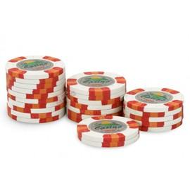 Rouleau 25 Jetons Casino Joker 500 Blanc