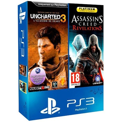 Bi Pack Uncharted 3 Drake's Deception Game Of The Year + Assassin's Creed Revelation Platinum - PlayStation 3