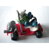 Super Schtroumpf Karting Variante Roues Larges Hk Ancienne Figurine Collection Schtroumpfs Smurf