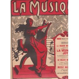 la musique n°10 DIM 14 AVRIL 1912 la marche des femmes la veuve joyeuse lehar, le collier de larmes edmond missa, rose mousse bosc