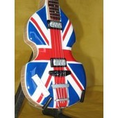 Guitare Miniature Beatles * Paul Mccartney Bass Union Jack