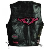 Gilet Cuir Love To Ride Taille L