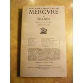 Mercure De France. N� 907, 1er Juillet 1936. Contient Entre Autres : Notes Sur Charles Nicolle, Par Georges Duhamel (4 Pages). L'arm�e De M�tier, Par Le G�n�ral X*** (10 Pages). de COLLECTIF