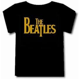 T-shirt the beatles noir logo doré ++Top qualité++ S à 4XL