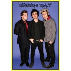 Poster encadré: Green Day - Groupe (91x61 cm), Cadre Plastique, Jaune