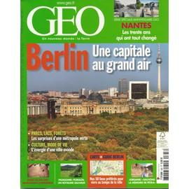 Geo 2009 (N�368) Berlin Une Capitale Au Grand Air
