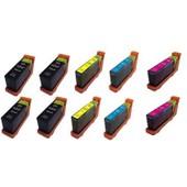 Encres Compatibles 5 (2n + 1m + 1c +1j), En Remplacement De Lexmark 100xl Pour Les Imprimantes S301 S305 S405 S505 S605 S815 S816 Pro205 Pro705 Pro805 Pro901 Pro905