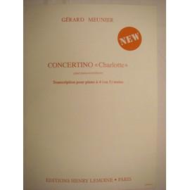 "concertino ""Charlotte"" pour 4 ou 5 mains"