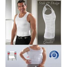 Gaine Homme Slim Ventre Plat Minceur Fitness Blanc D�bardeur S M L Xl Xxl