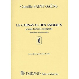 Saint-Saëns : Le Carnaval des Animaux pour piano à 4 mains