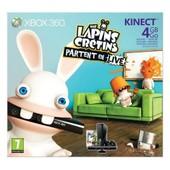 Pack Xbox 360 4 Go + The Lapins Cretins Partent En Live + Kinect