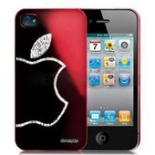 Coque Housse Iphone 4 / 4s Strass Diamonds Rouge