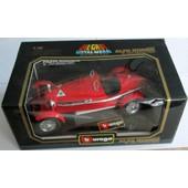 Bburago 1/18 1980 R�f. 3014, Alfa Romeo 8c 2300 Monza De 1931, Rouge, Capot Et Coffre Ouvrants, Roues Directionnelles