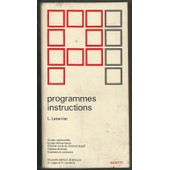 Programe Instruction Ecole Maternelles de leterrier