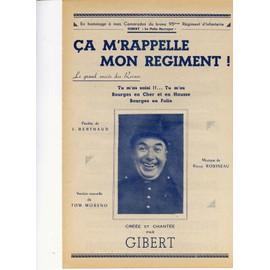 CA M'RAPPELLE MON REGIMENT ! GIBERT LE POLIN BERRUYER