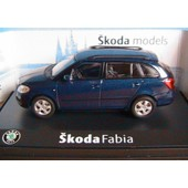 Skoda Fabia Combi Ii 2007 Blue Storm Metal Abrex Ab009kc 1/43 Break Sw