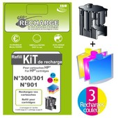 Eco Recharge Hp 301 Bk + Cl