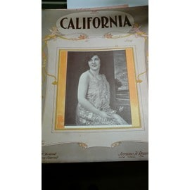 Partition ancienne ' California'