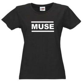 T-shirt muse noir pour femme ++Top qualité++ S à 2XL