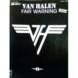 Van Halen - Fair Warning Guitar TAB