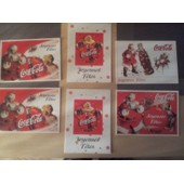 Lot De 6 Cartes De Voeux Noel Coca Cola