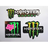 Autocollant Stickers Monster Energy Fox - Lot De 3