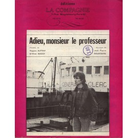 HUGUES AUFRAY  PARTITION  ADIEU MONSIEUR LE PROFESSEUR
