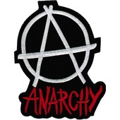 Ecusson Ou Patch Anarchy Brode Thermo Collant
