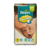 Pampers Couches New Baby Taille 1 Newborn (2-5 Kg) - G�ant 1 X 50 Couches