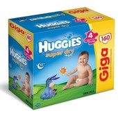 Huggies Couches Super Dry Taille 4 (7 � 14 Kg) - Gigapack 1 X 160 Couches