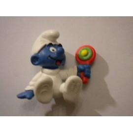B�b� Schtroumpf Assit Hochet Figurine Collection Smurf Schtroumpfs Jouet