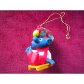 Schtroumpf De No�l Ancienne Figurine 1984 Alderbrook Peyo N�2 Collection Schtroumpfs Smurf The Smurf