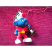 Schtroumpf De No�l Ancienne Figurine 1984 Alderbrook Peyo N�3 Collection Schtroumpfs Smurf The Smurf
