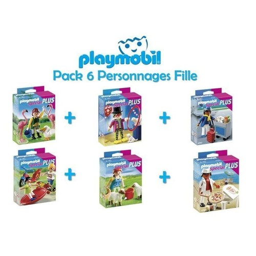 Playmobil Pack 6 Personnages Filles