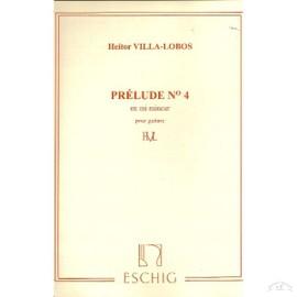 Villa-Lobos: Prélude n°4 en Mi mineur pour guitare