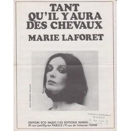 MARIE LAFORET PARTITION TANT QU'IL Y AURA DES CHEVAUX