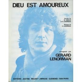 GERARD LENORMAN PARTITION DIEU EST AMOUREUX