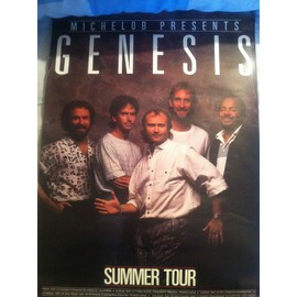 Poster Genesis Invisible Touch Summer Tour 1986