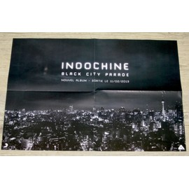 poster : indochine black city parade