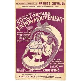 UIn bon mouvement (Maurice Chevalier) 1926