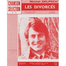 MICHEL DELPECH PARTITION LES DIVORCES