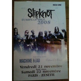 Poster Affiche Slipknot-Machine Head European tour 2008/Kiss Gene Simmons recto verso