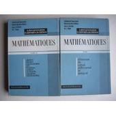 Mathematiques Tome 1 Et Tome 2 de Hocquenghem - Jaffar - Chenon